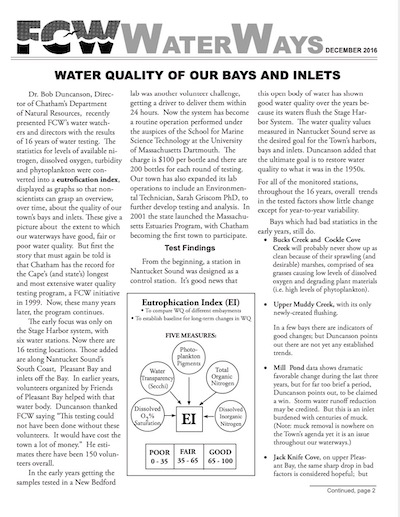 Friends of Chatham Waterways Newsletter 2016 Thumbnail