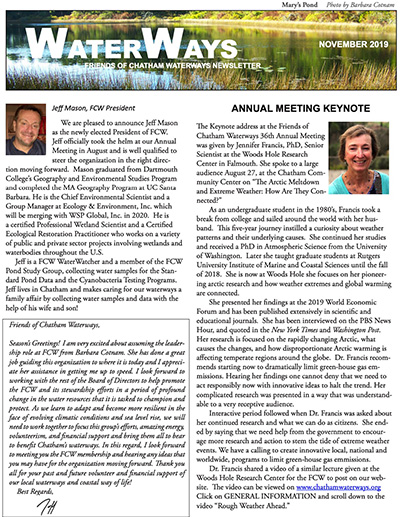 Friends of Chatham Waterways Newsletter 2019 Thumbnail